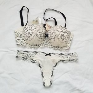 Victoria's Secret bra and thong lace set